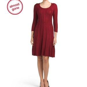 Kasper Dresses & Skirts - Kasper cable knit sweater a line dress 👠👠👠