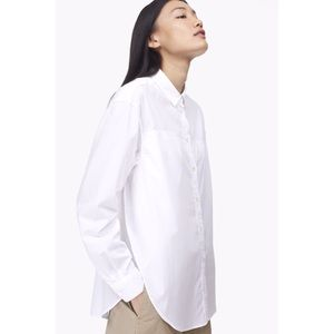 Closed Tops - Closed button down white blouse