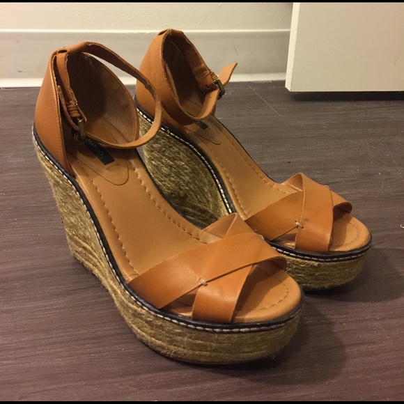 23b25146d Mango Shoes | Comfortable Brown Wedges From | Poshmark