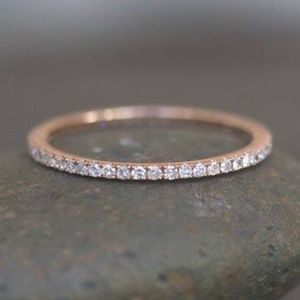 Jewelry - ONE LEFT💕.20Ct Natural Diamond 14K Rose Gold Band