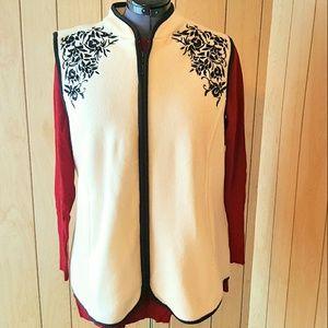 Susan Graver Jackets & Blazers - Susan Graver Fleece Vest with Zipper Front Large