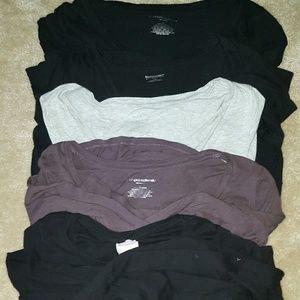 Long sleeve maternity cotton shirts