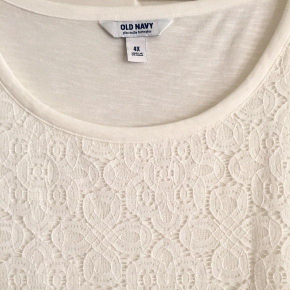 Old Navy Tops - Lace Front Tee