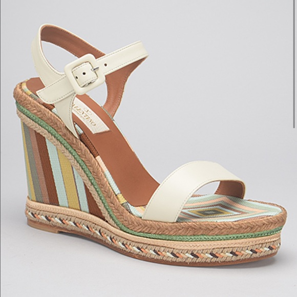 8d65b18835 Valentino Shoes | Navajo Wedge Multi Ivory 1040 Nwt Box | Poshmark