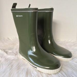 Tretorn Shoes - Tretorn Green Fur Rain Boots
