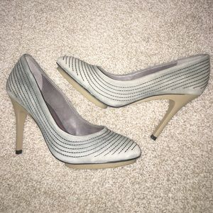 Saks Fifth Avenue Shoes - New 5|48 Leather Sea Green Platform Pumps Size 40