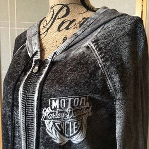 Harley-Davidson Tops - 🆒Harley-Davidson Women's Reverse Print Hoodie XXL