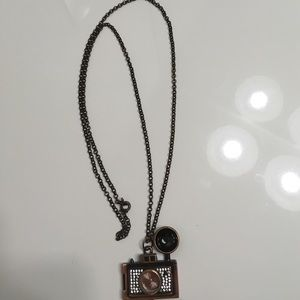 Charming Charlie Jewelry - Camera clock necklace