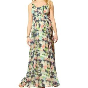 Maternity multi colored maxi