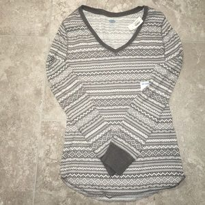 Old Navy Tops - Long-sleeve fitted tribal top