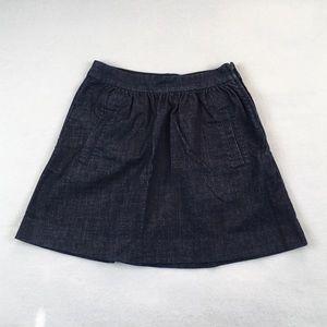 J. Crew Dresses & Skirts - J. Crew Indigo Denim Mini Skirt With Pockets
