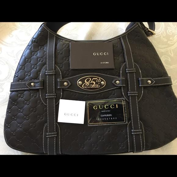 d61d2a2e000d Gucci Handbags - Gucci Authentic 85th Anniversary Hobo Brown leathe
