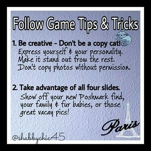 Follow Game Success Tips Accessories - FG Tips & Tricks-PLS tag me on FGs that meet rules