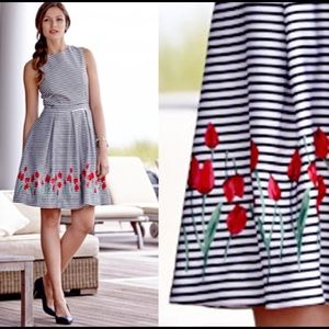 Brooks Brothers Dresses & Skirts - New Brooks Brothers striped dress with tulips