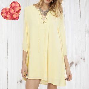 Peach Love California Dresses & Skirts - Lace Up Dress