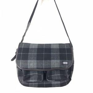 Jack Spade Handbags - Plaid Bonded Wool Backroad Messenger