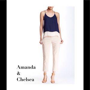 Amanda & Chelsea Pants - So Chic Cream Crop Pant