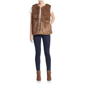 Cara Couture Jackets & Blazers - Cära Couture Brown Fur Vest