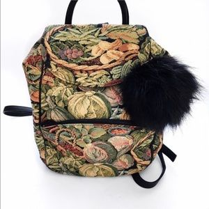 Vintage Handbags - Vintage floral backpack