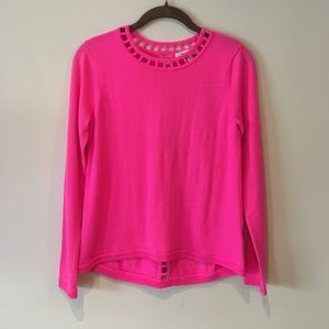 Milly Key Hole Sweater Top