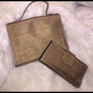 Lancome Handbags - Lancôme clutch w matching lipstick case & mirror
