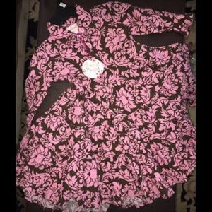 chatti patti Other - Nwt full skirt dress brown/pink
