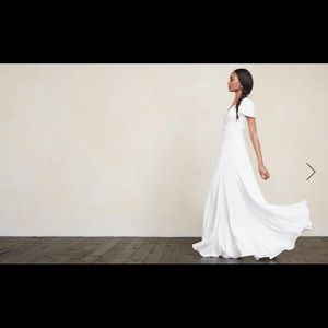 REFORMATION MIA WHITE WEDDING DRESS // SZ 10 ⭐️