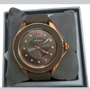 Michele  Accessories - Michele Rose-Gold topaz taupe Ladies Watch