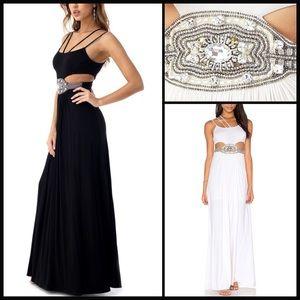 Sky Dresses & Skirts - SKY 💫 Embellished Cut Out Maxi NWT
