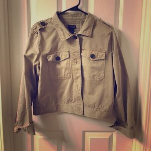 Khaki jacket 100% cotton