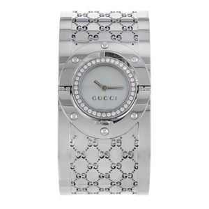 Gucci stainless steel and diamonds women's watch.