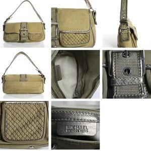"VINTAGE ""ARMY STYLE"" MICHAEL KORS KHAKI & GOLD BAG"