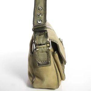 "MICHAEL Michael Kors Bags - VINTAGE ""ARMY STYLE"" MICHAEL KORS KHAKI & GOLD BAG"