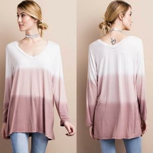 Classic Paper Doll Tops - 🆕Ombre Dip Dye Knit Tunic