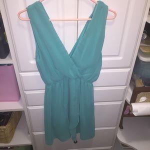 Teal Asos wrap dress