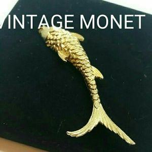 Monet Jewelry - Vintage Monet Fish Brooch
