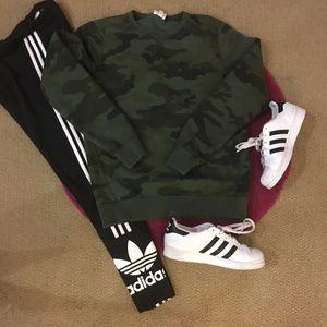 Adidas Tops - Adidas Neo Camo Crew Neck Sweatshirt