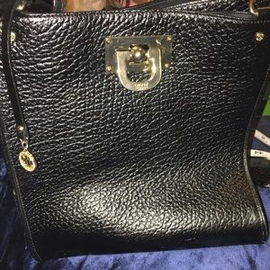 DKNY Handbags - DKNY Large Black Shoulder Bag with Pouch