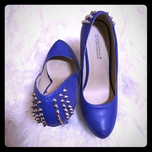 Sexy Royal Blue Studded Pumps