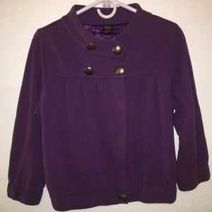 GentleFawn Jackets & Blazers - Gentlefawn Purple Peacoat/Sweater