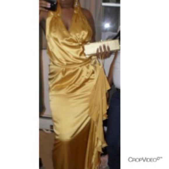 Dresses | Prom Gold Dress Plus Size | Poshmark