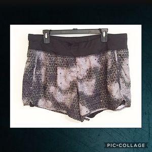 Danskin Now Pants - Black and Grey Geometric Galaxy Workout Shorts