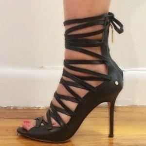 Rachel Roy - Black lace up leather heels