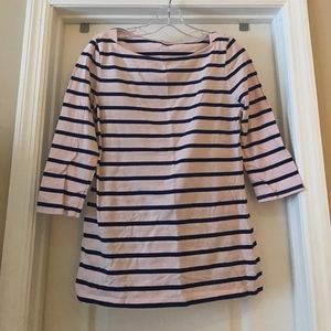 Merona 3/4 sleeve striped tee