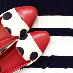Johnston & Murphy Shoes - Johnston & Murphy Flats | Red, White & Blue Dots