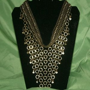 Jewelry - Choker necklace with hanging chain detail