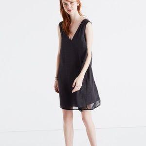 Madewell Dresses & Skirts - NWT Madewell V-Neck Little Black Shift Dress, Sz 4