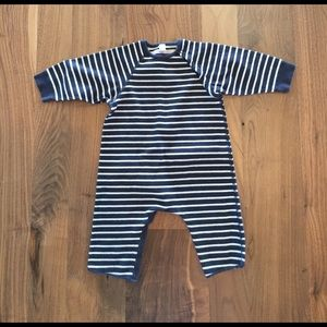 Petit Bateau Other - Petit beteau-navy and cream striped one piece 👶