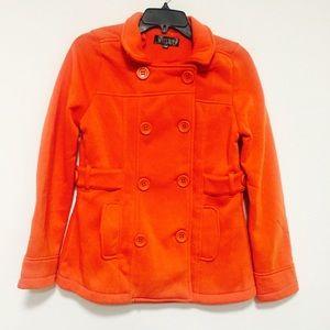 Jackets & Blazers - Orange color fleeced jacket