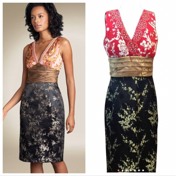 9ef63cf85a8 Phoebe Couture Asian Inspired Silk Dress. M 5897b27f7f0a05cf6c022520